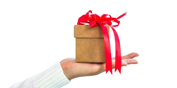 手のひらサイズのプレゼントボックス